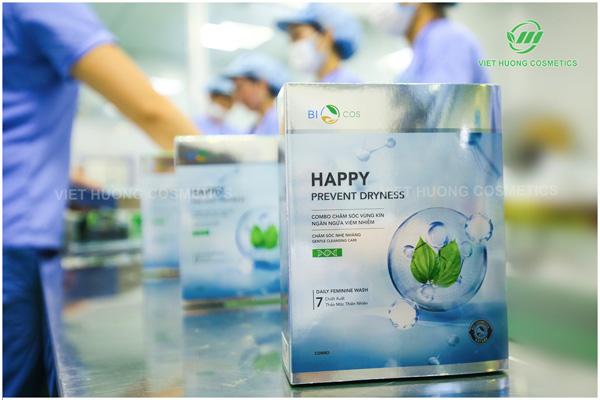 Sản phẩm được sản xuất tại nhà máy đạt tiêu chuẩn ISO 22716 đảm bảo chất lượng tốt.