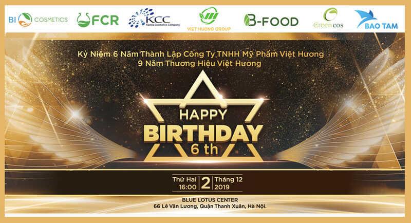 Thiệp mời sinh nhật Việt Hương