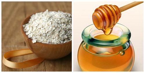 Bột yến mạch kết hợp mật ong trị thâm mụn