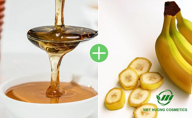Chuối và mật ong làm nguyên liệu mặt nạ dưỡng da